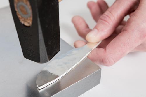 silver forging silversmith workshop handmade silver utensil
