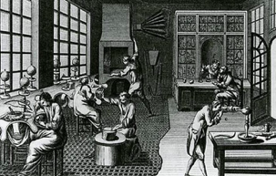 Denis Diderot 1765 colonial silversmithing workshop