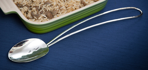 silver Charleston rice spoon contemporary silver Charleston silver