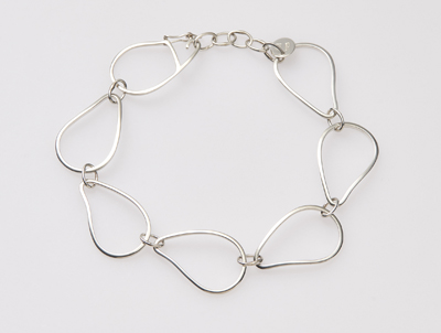 silver oyster link bracelet handcrafted silver jewelry