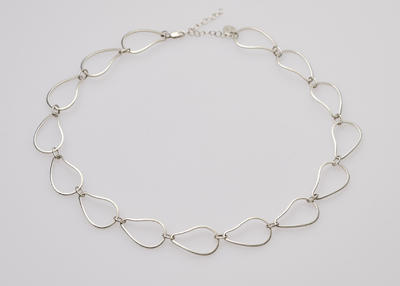 oyster jewelry silver link necklace
