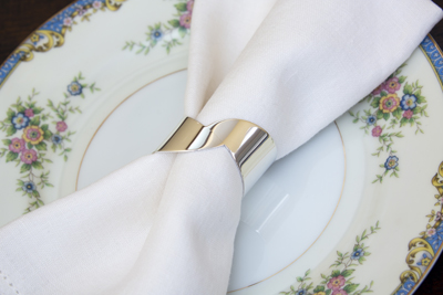 silver napkin ring stylish entertaining tabletop design