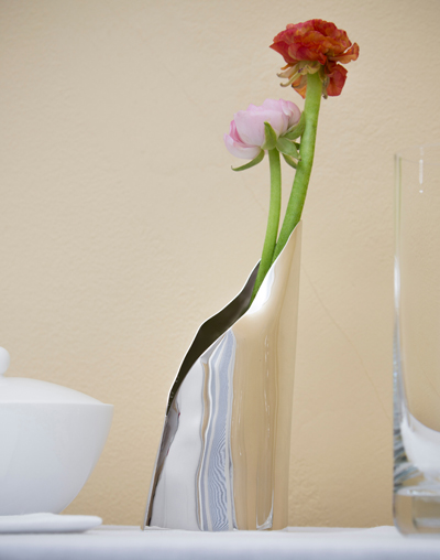 silver vase silver vessel functional art contemporary silver
