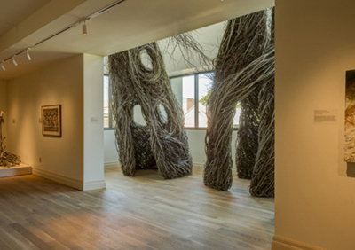patrick dougherty sculpture installation gibbes museum of art chaleston sc