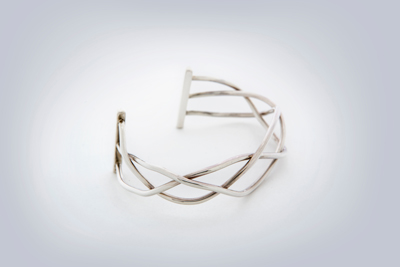 silver twisted wire bracelet kaminer haislip jewelry