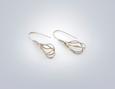 silver twisted wire earrings handmade jewelry charleston sc