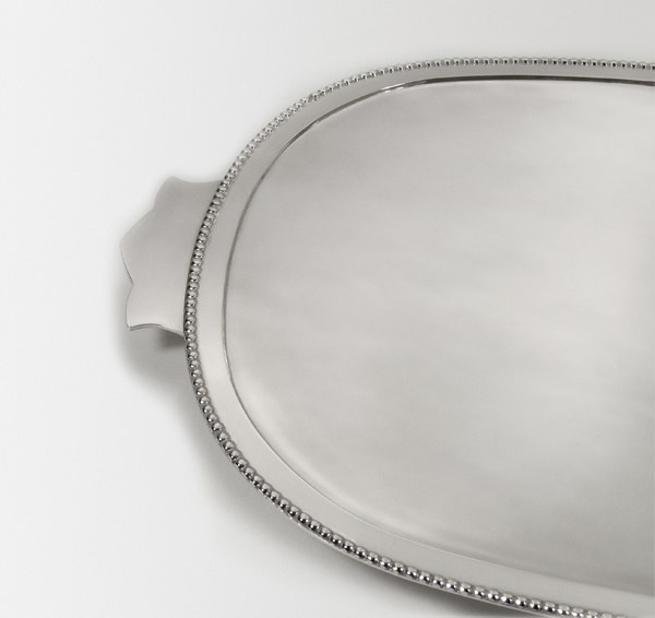 silver communion tray bead rim
