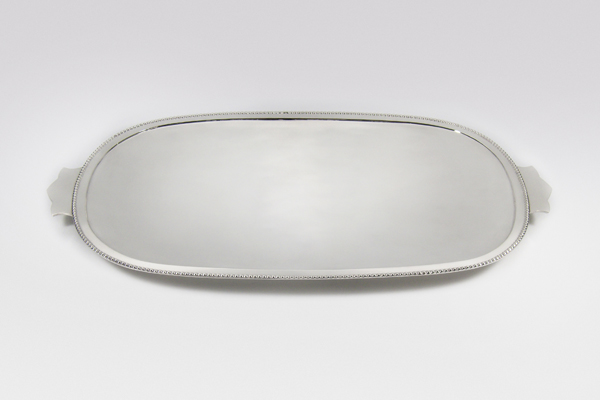 ecclesiastical church silver communion tray