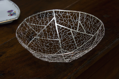 silver wedding gift silver nest woven silver basket silver wedding gifts