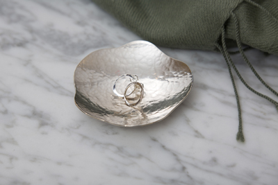 hammered silver dish silver torc earrings post earrings graduation gift ideas for her