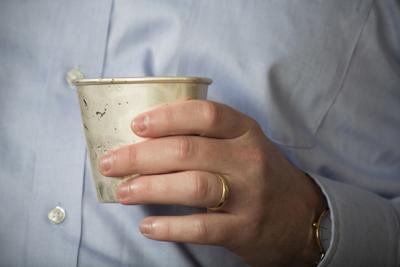 silver tumbler contemporary silver cup hand engraving