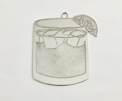jack & ginger silver christmas ornament