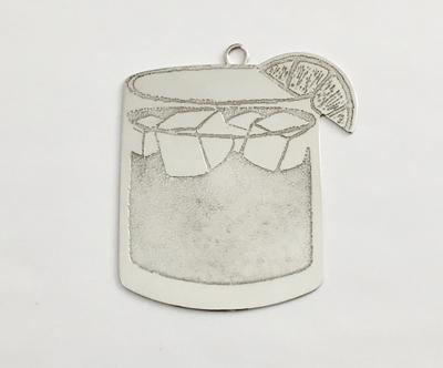 jack & ginger silver christmas ornament