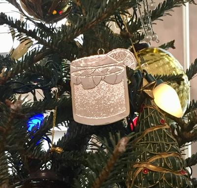 jack & ginger christmas ornament