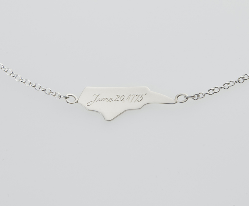 north carolina silver necklace