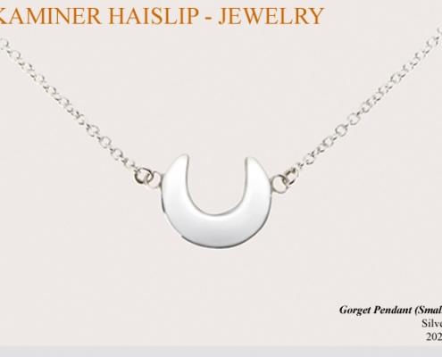 silver gorget pendant